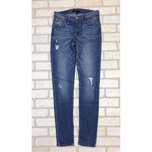 Flying Monkey Distressed Stretch Skinny Jeans 26